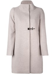 Fay Funnel Neck Midi Coat Nude And Neutrals