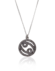 Laura Lee Jewellery Silver Diamond Cancer Necklace