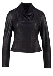 More And More Faux Leather Jacket Black