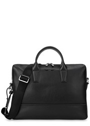 Boss Element Black Leather Briefcase