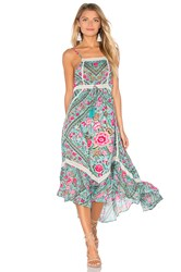 Spell And The Gypsy Collective Babushka Midi Dress Turquoise
