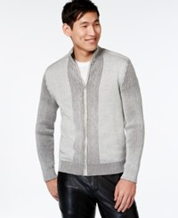 Inc International Concepts Yes Full Zip Sweater Only At Macy's Light Grey
