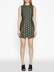 French Connection Connectionb City Camo Sleeveless Dress Olive Night Multi
