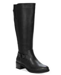Easy Street Shoes Grande Plus Wide Calf Tall Riding Boots Women's Black