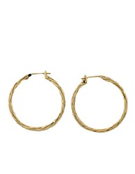 Lord And Taylor 14K Yellow Gold Textured Hoops 14 Kt. Yellow Gold