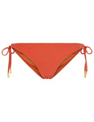 Lazul Orange Jacquard Nubia Bikini Bottoms