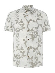 Only And Sons Floral Short Sleeve Shirt White