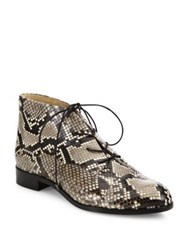 Alexandre Birman Maggy Python Booties Natural Black