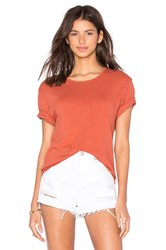 James Perse Linen Jersey Relaxed Tee Rust