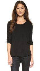 Sundry Long Sleeve Raglan Sweatshirt Black