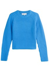 Carven Pullover With Wool Cotton And Cashmere Blue