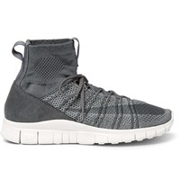 Nike Free Flyknit Mercurial High Top Sneakers Gray