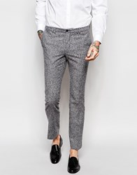 Noak Winter White Donegal Wool Suit Trousers In Super Skinny Fit White