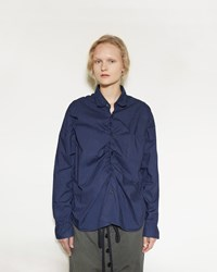 Marni Ruched Poplin Shirt Light Navy