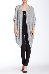Blush Noir Open Front Oversized Cardigan Gray