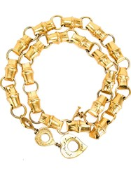 Yves Saint Laurent Vintage Bamboo Link Chain Metallic