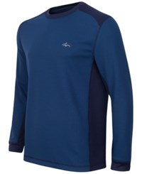 Greg Norman For Tasso Elba Men's Big And Tall Thermal Shirt Only At Macy's Blue Socket