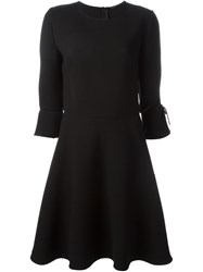 Ermanno Scervino Bow Cuff Skater Dress Black