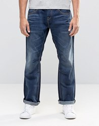 Jack And Jones Dark Blue Washed Jeans In Loose Fit With Engineered Details Dark Blue Black
