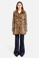 Anna Sui For Opening Ceremony Short Fur Coat Leopard