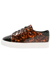 Lost Ink Trish Trainers Tortoise Shell Black