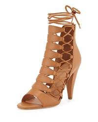 Sigerson Morrison Magola Leather Lace Up Sandal Cuoio