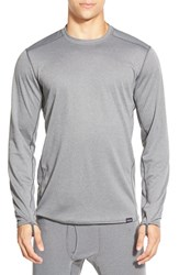 Men's Patagonia 'Capilene Midweight' Base Layer Long Sleeve Shirt Forge Grey Feather Grey