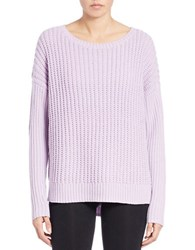 Lord And Taylor Plus Knit Crewneck Sweater Orchid