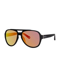 Fossil 58Mm Aviator Sunglasses Black