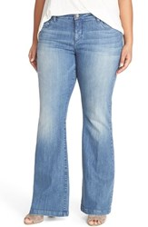 Plus Size Women's Kut From The Kloth 'Chrissy' Stretch Flare Leg Jeans Prophecy