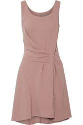 Maiyet Draped Crepe Mini Dress Taupe