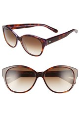 Kate Spade Women's New York 'Kiersten' 56Mm Cat Eye Sunglasses Purple Tortoise