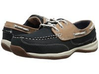 Rockport Sailing Club Navy Blue Tan Women's Work Boots