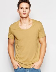Weekday Daniel Scoop Neck T Shirt In Beige Beige 13 115
