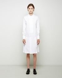 J.W.Anderson Pleated Shirtdress Optic White