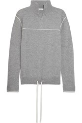 Chloe Cashmere Turtleneck Sweater Gray