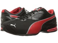 Puma Tazon 6 Wide Fm Black High Risk Red Silver Men's Lace Up Casual Shoes