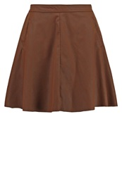 Only Onlfair Aline Skirt Cognac
