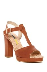 Manas Design T Strap Cork Bed Sandal Brown