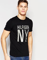 Tommy Hilfiger T Shirt With Ny Print Black