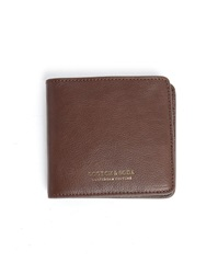 Scotch And Soda Brown Leather Zipped Coin Wallet