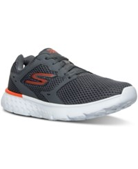 Skechers Men's Gorun 400 Running Sneakers From Finish Line Charcoal Orange