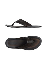 John Varvatos Footwear Thong Sandals Men Dark Brown