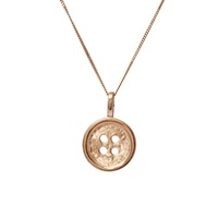 Edge Only Gold Button Pendant