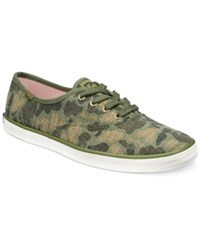 Keds Women's Camo Ripstop Lace Up Sneakers Women's Shoes Olive