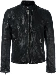 Neil Barrett Quilted Leather Jacket Brown