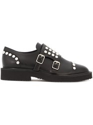 Giuseppe Zanotti Design Studded Monk Strap Shoes Black