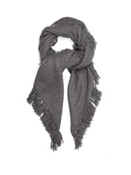 Isabel Marant Zila Cashmere And Wool Blend Scarf Dark Grey