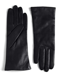 Lord And Taylor Leather Gloves Black