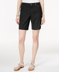 Styleandco. Style And Co. Petite Studded Pocket Shorts Only At Macy's Deep Black